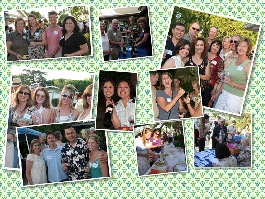 wine walk collage